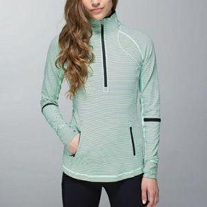Lululemon   Star runner  mint half zip sweater